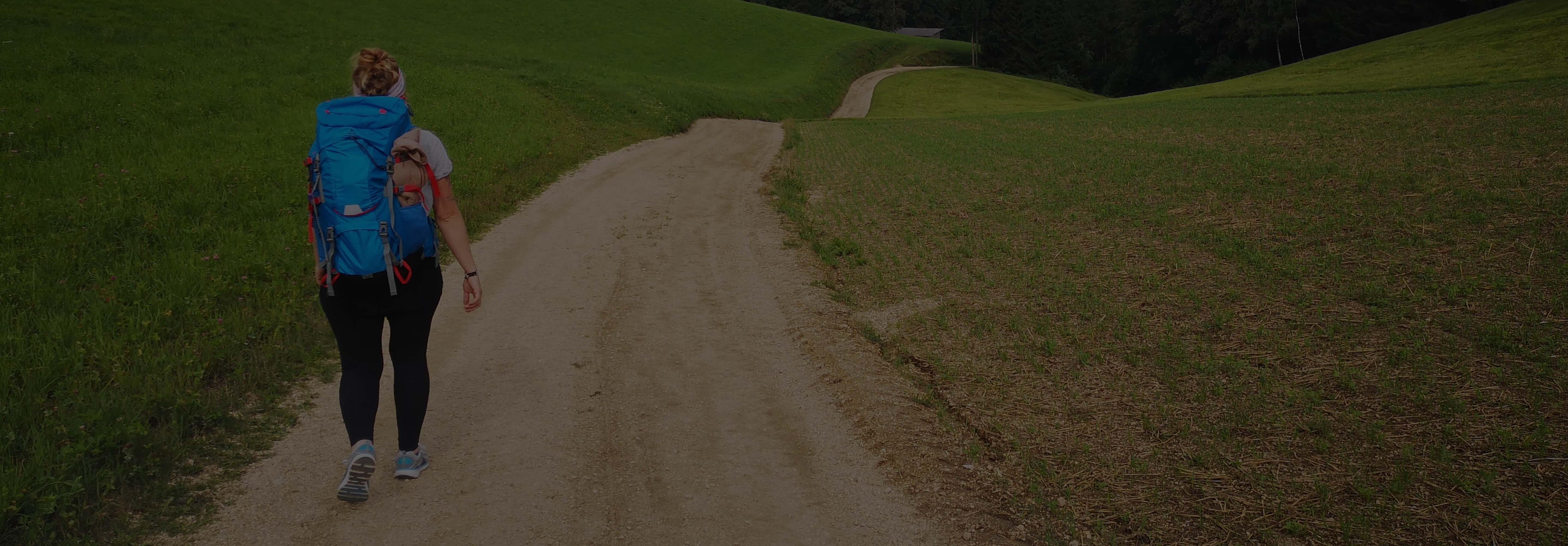 Jakobsweg Rucksack, Pilger Rucksack, mapuera Camino Azul Rucksack
